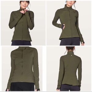 Lululemon Olive Green Full Zip Jacket (Worn once)